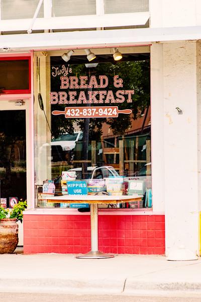 Entrance to Judy's Bread & Breakfast in Alpine, TX
