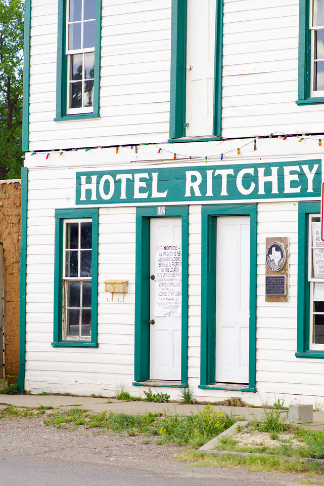 Historic Hotel Ritchey under renovation in Alpine, TX