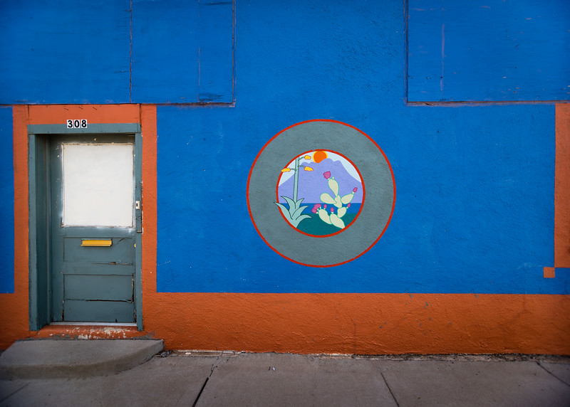 Colors and murals in Alpine, TX.