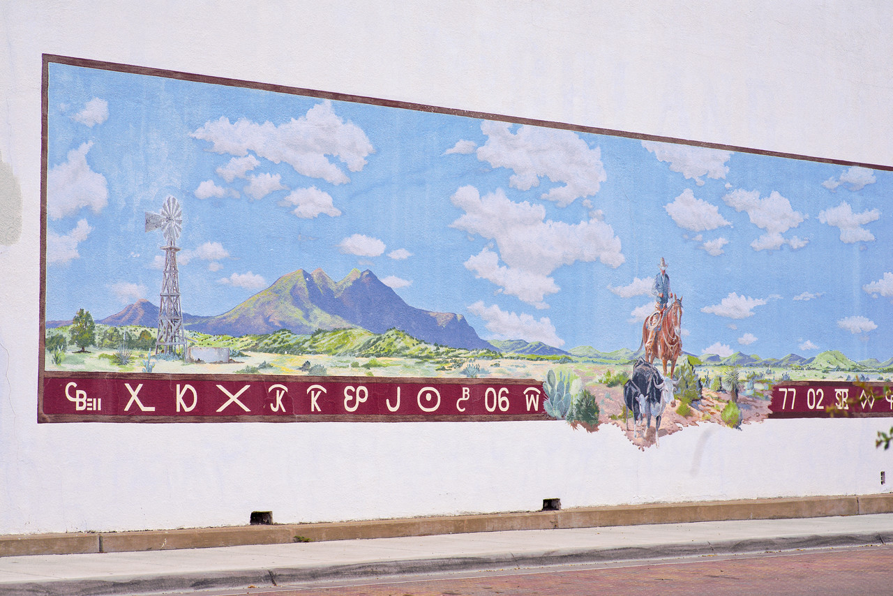 No wall is too big for a mural in Alpine, TX.