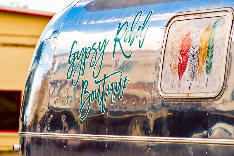 The Gypsy Rebel Boutique in an AirStream trailer.