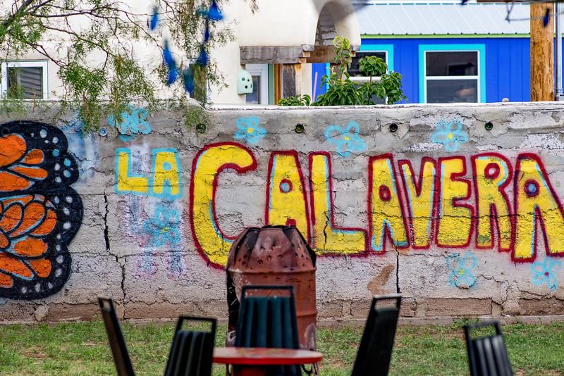 La Calavera patio in Alpine, TX
