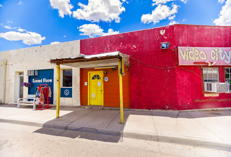 Colorful Alpine, Texas at hight noon.