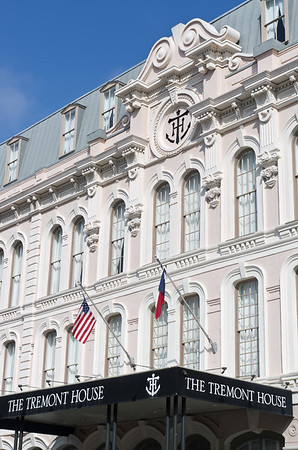 The four star, historic, and very elegant Tremon House Hotel in Galveston, Texas.