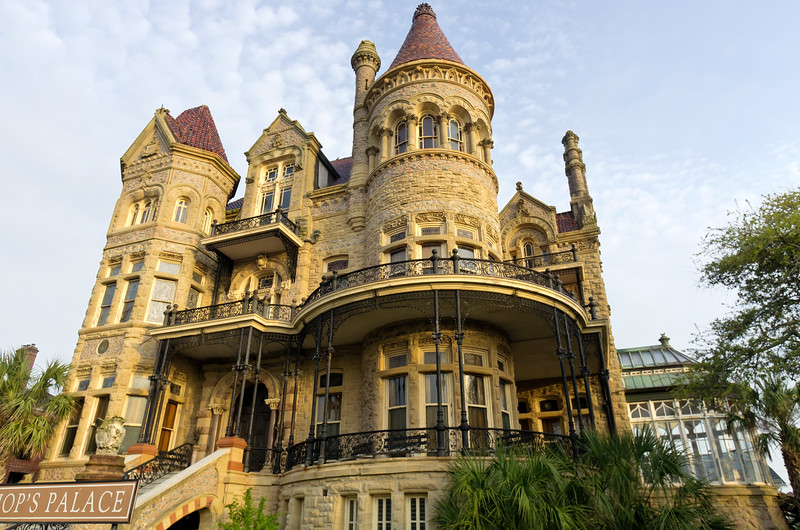 The very impressive Bishop's Palace in Galveston, Texas.