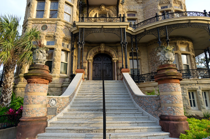 Entrance to the Bishop's Palace in Galveston, Texas.