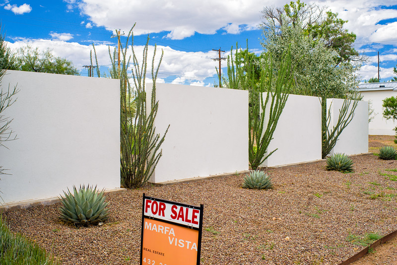 Marfa contemporary house on display, and for sale.