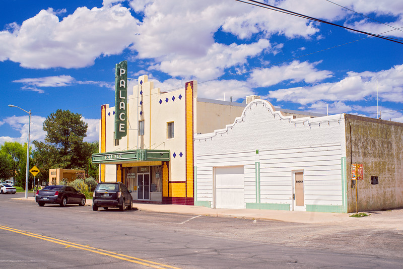 Across the street from the Palace Theater in Marfa, TX.