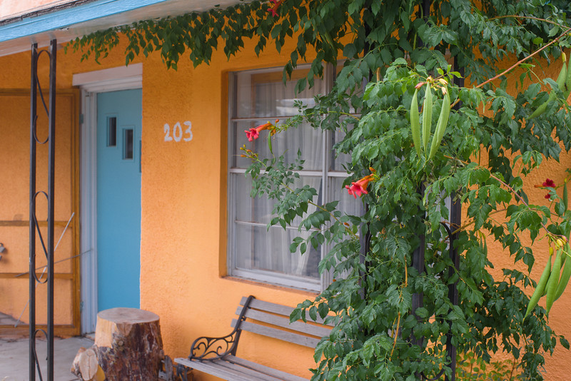 Another orange house, in Marfa, TX. Love it!