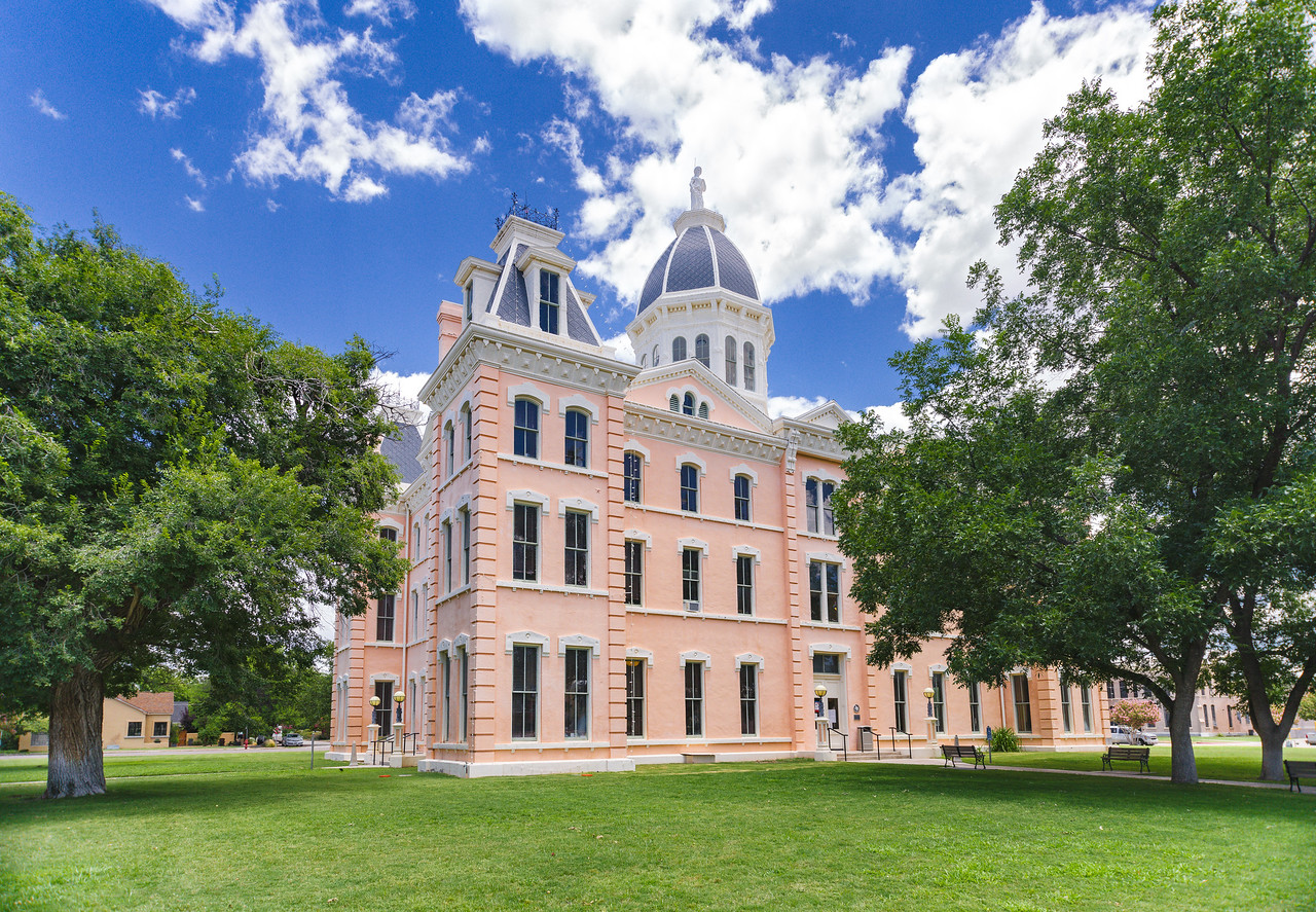 Presidio County Courthouse in Marfa, TX.