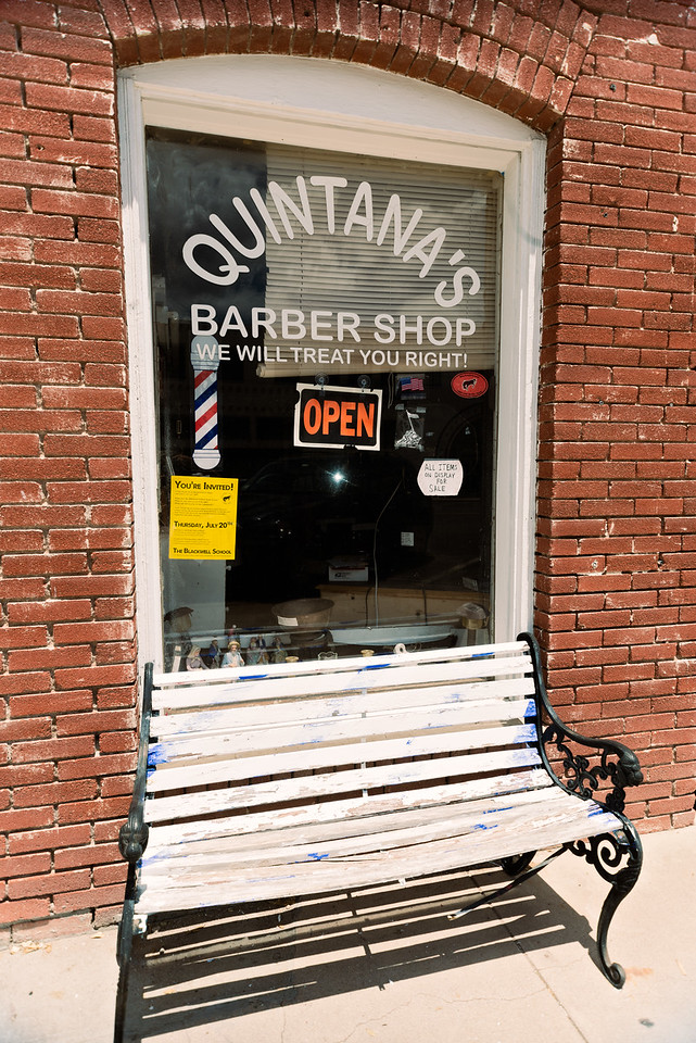 Get treated right at Quintana's Barber Shop in Marfa, TX.