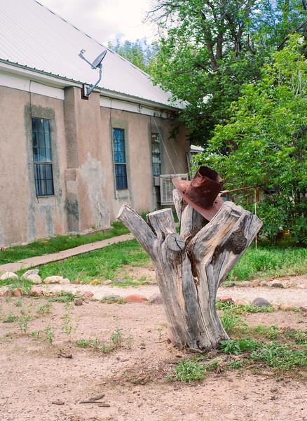 Yard art is common in Marfa, TX.
