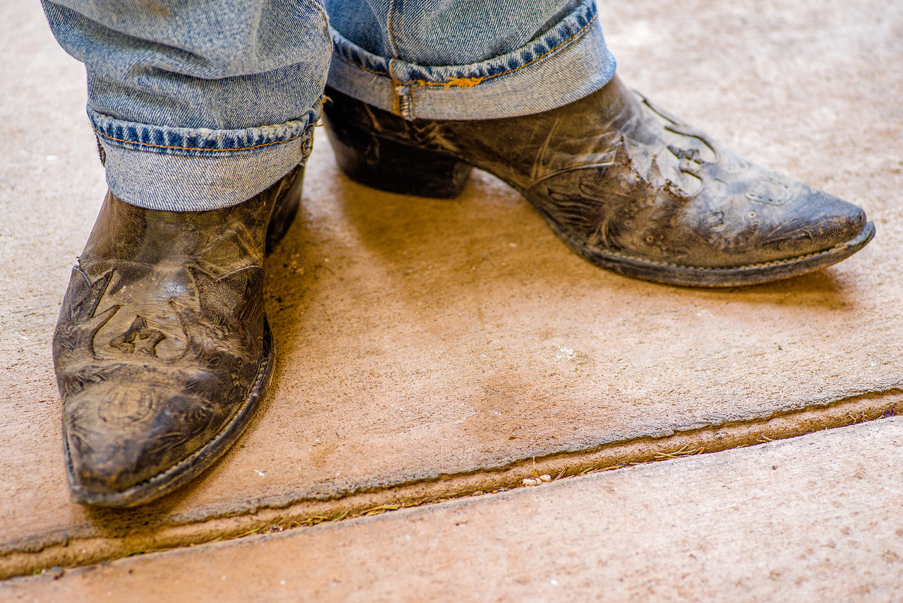 Some really old boots in Marfa, TX.