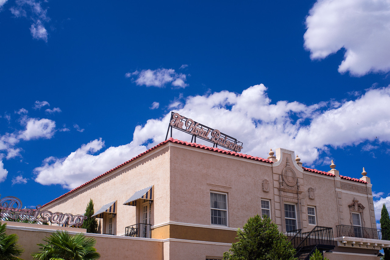 The luxurious Hotel Paisano in Marfa, TX.