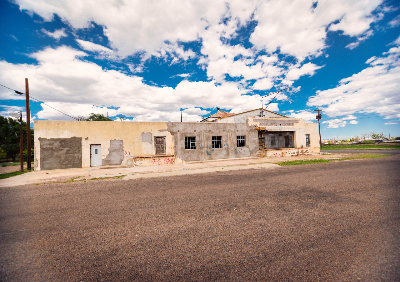 The old Ice Plant in Marfa, TX.