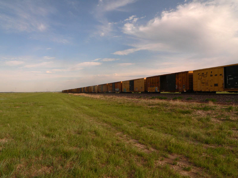 Early morning train in West Texas.