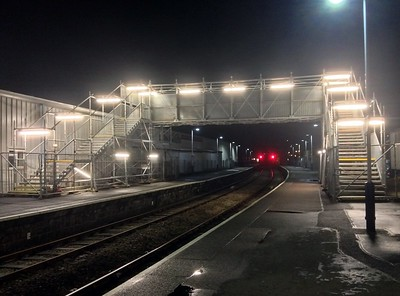 Temporary footbridge at Paignton