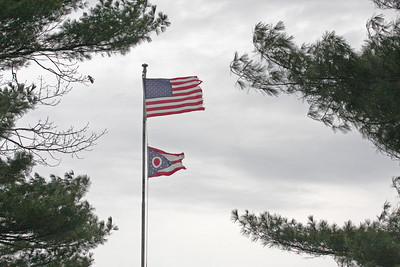 United States Flag and the State of Ohio Flag