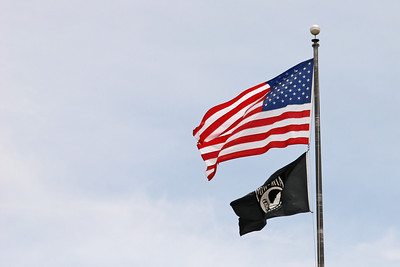 United States of America and Prisoner of War flags