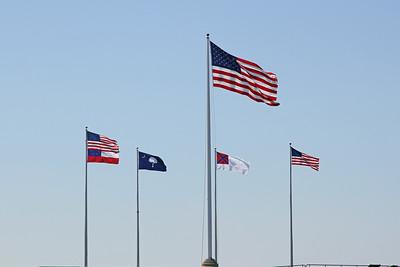 Flags at Fort Sumter, Charleston, SC