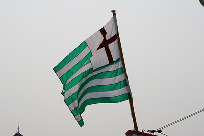 green and white Tudor flag