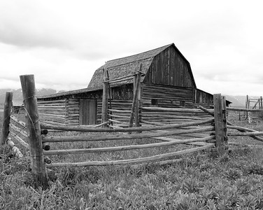 Teton Barn (Black & White, Honorable Mention)