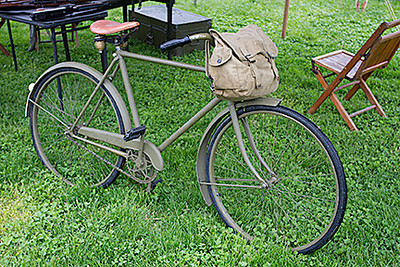 Allied messenger's bicycle.