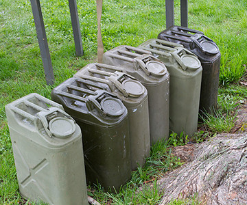 Jerry cans could be used for water, fuel, or any other liquid (but not interchangably).