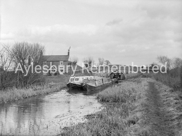 Canal at Red House, Aston Clinton, Mar 16 1959