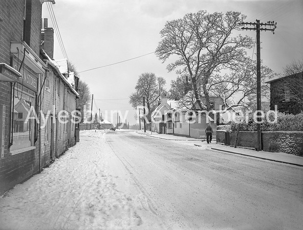 Aylesbury Road, Bierton, Jan 21st 1958