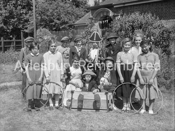 Fancy dress at Haddenham, June 11th 1953