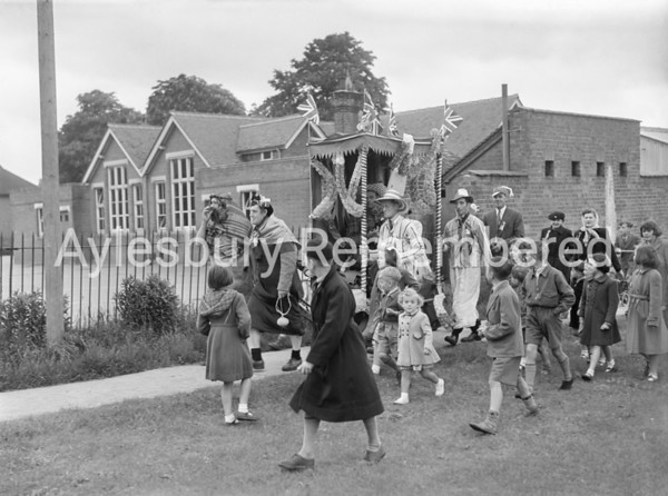 Coronation procession at Waddesdon, June 2nd 1953