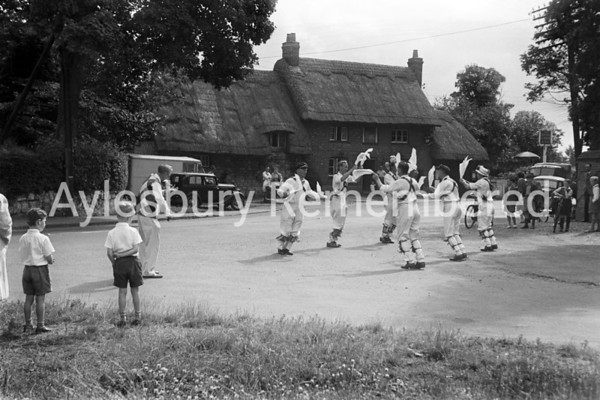 Morris Dancing at Whitchurch, July 8 1950
