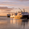 Three of the Orkney Ferries fleet at Kirkwall, Orkney. May 2016