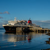 MV Caledonian Isles at Brodick not long before sunset