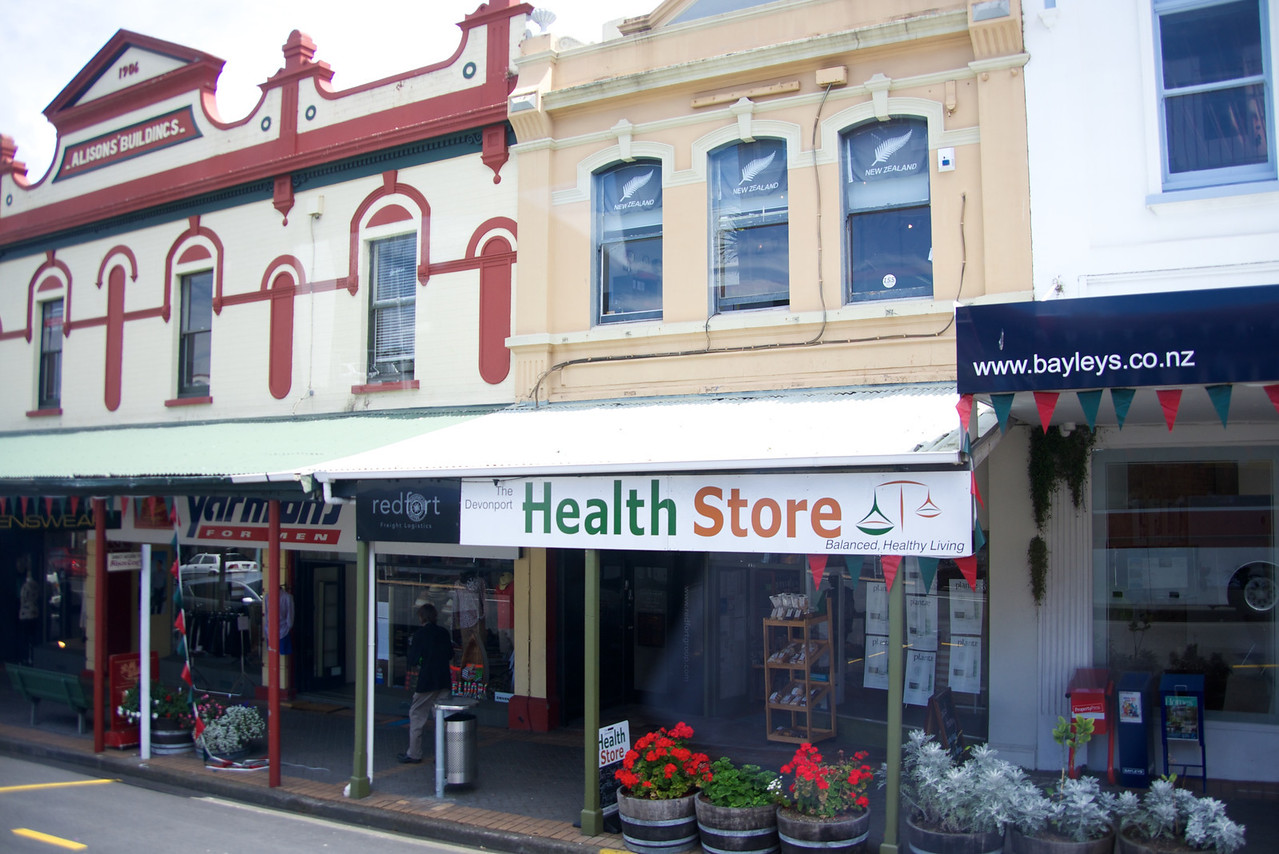 Typical Buildings in Downtown Devonport-Residence Upstairs and Commercial Downstairs (from bus)