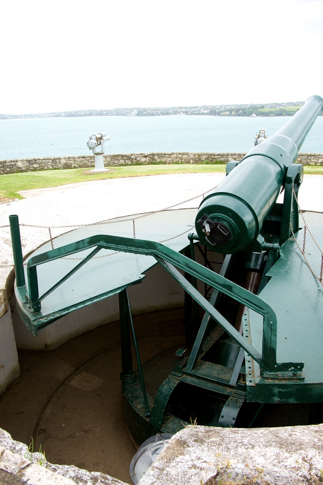 "8"" Disappearing Gun On Top Of North Head"