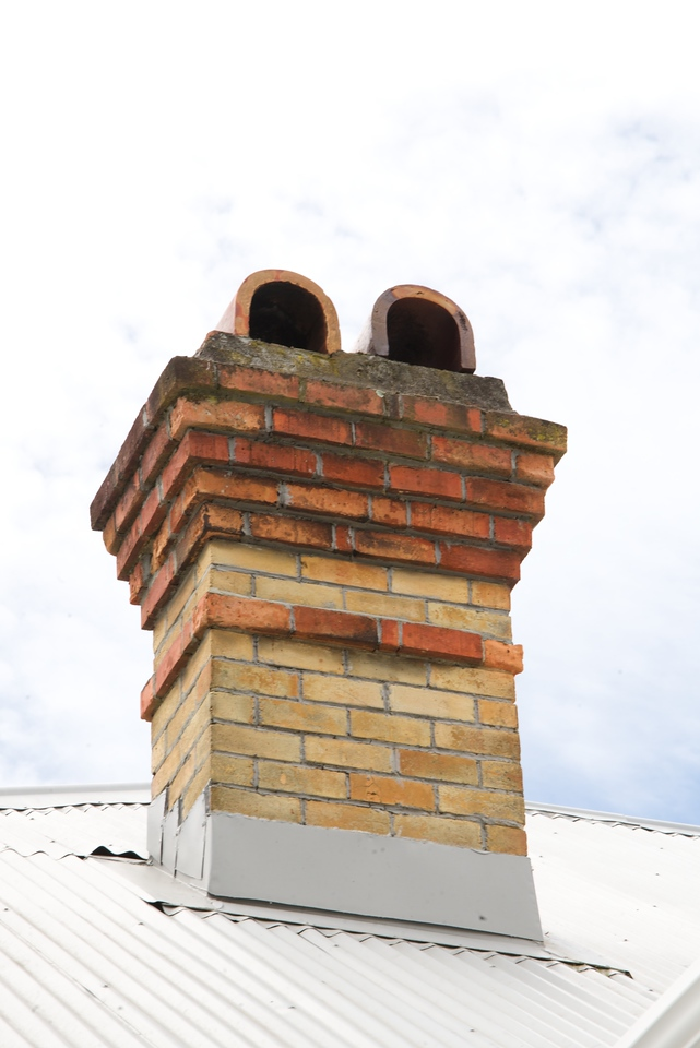 Typical Chimney in Area-Sandstone and Brick