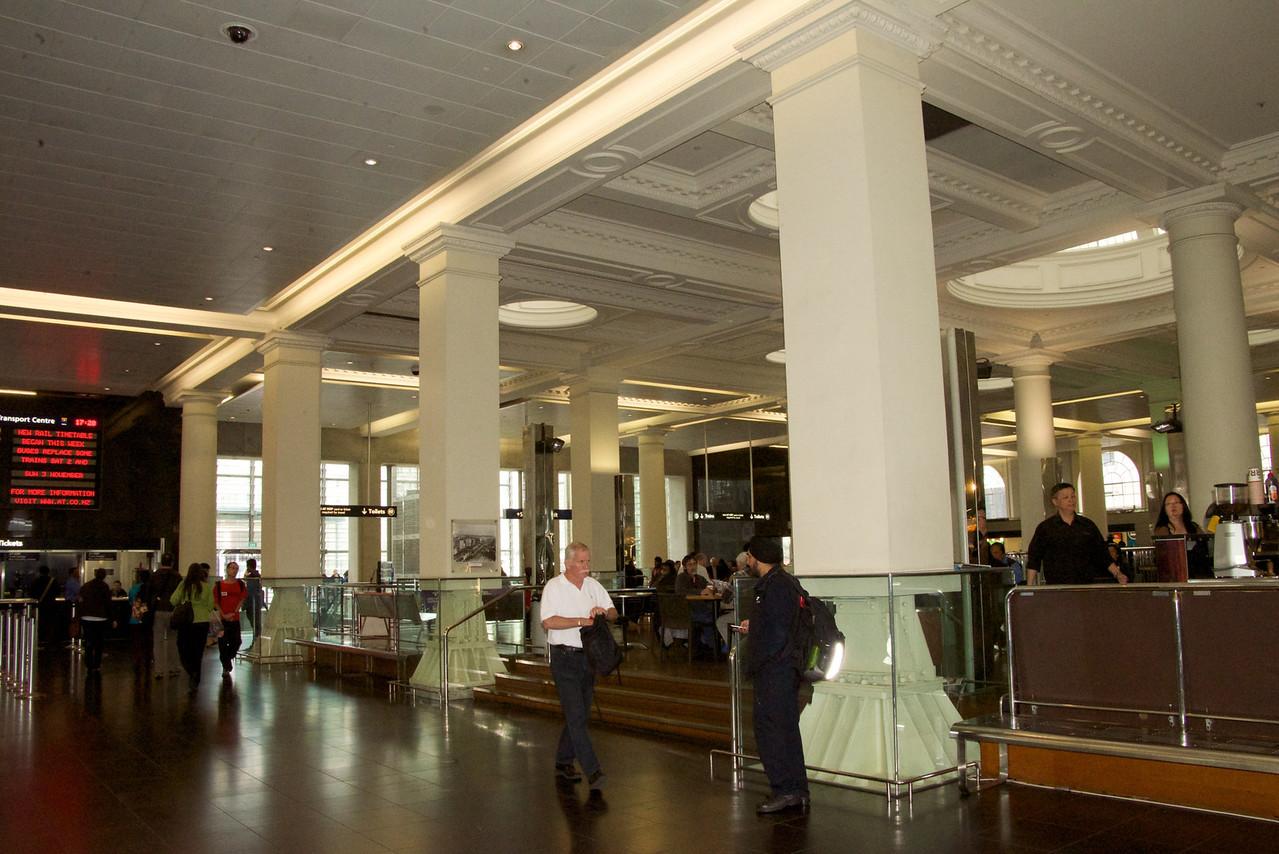 Modern Interior of Train Station
