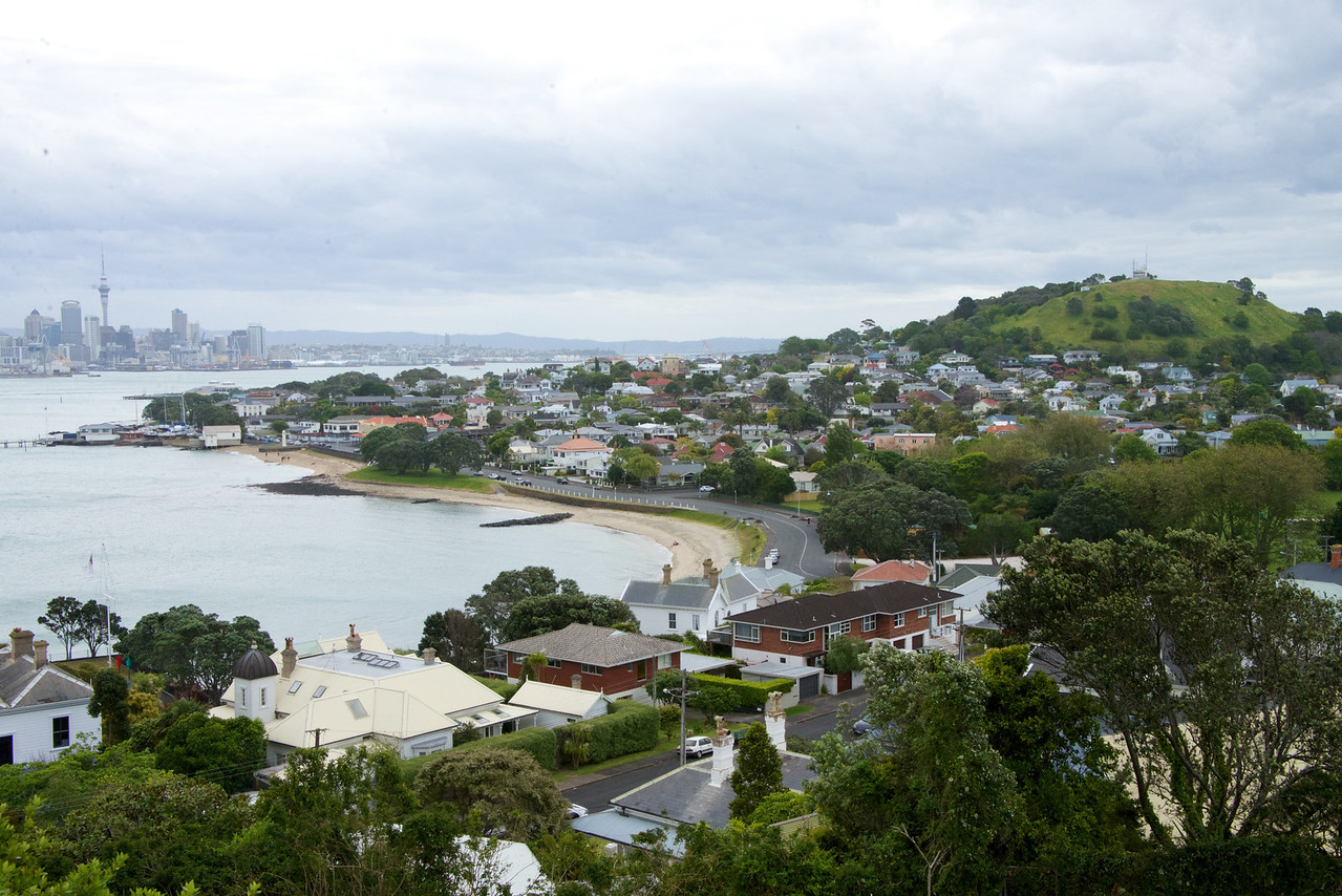 View of Waitemata Harbour  From Top of North Head