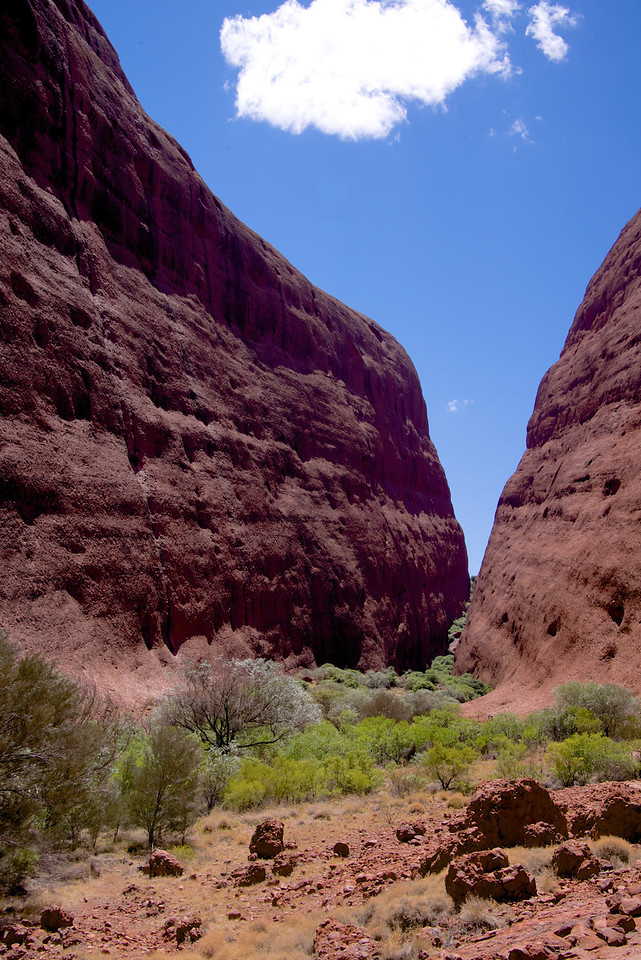 Kata Tjuta is sacred to Aboriginal People  They Showed Respect by Camping a Short Distance Away and Walk in Quietly