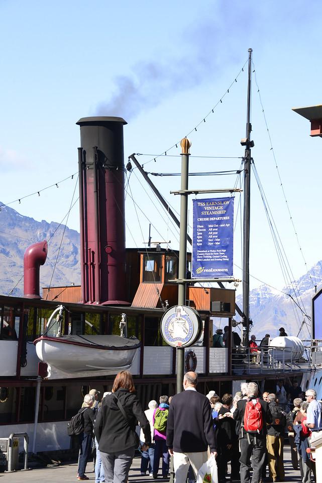 The TSS Earnslaw is a 1912 Edwardian vintage twin screw steamer