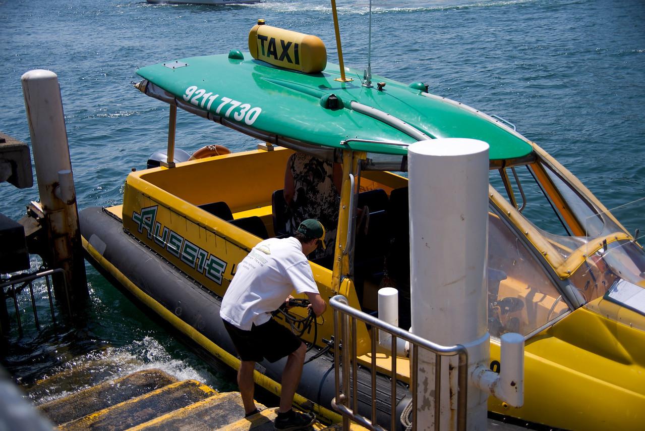 Water Taxi in Sydney Harbor