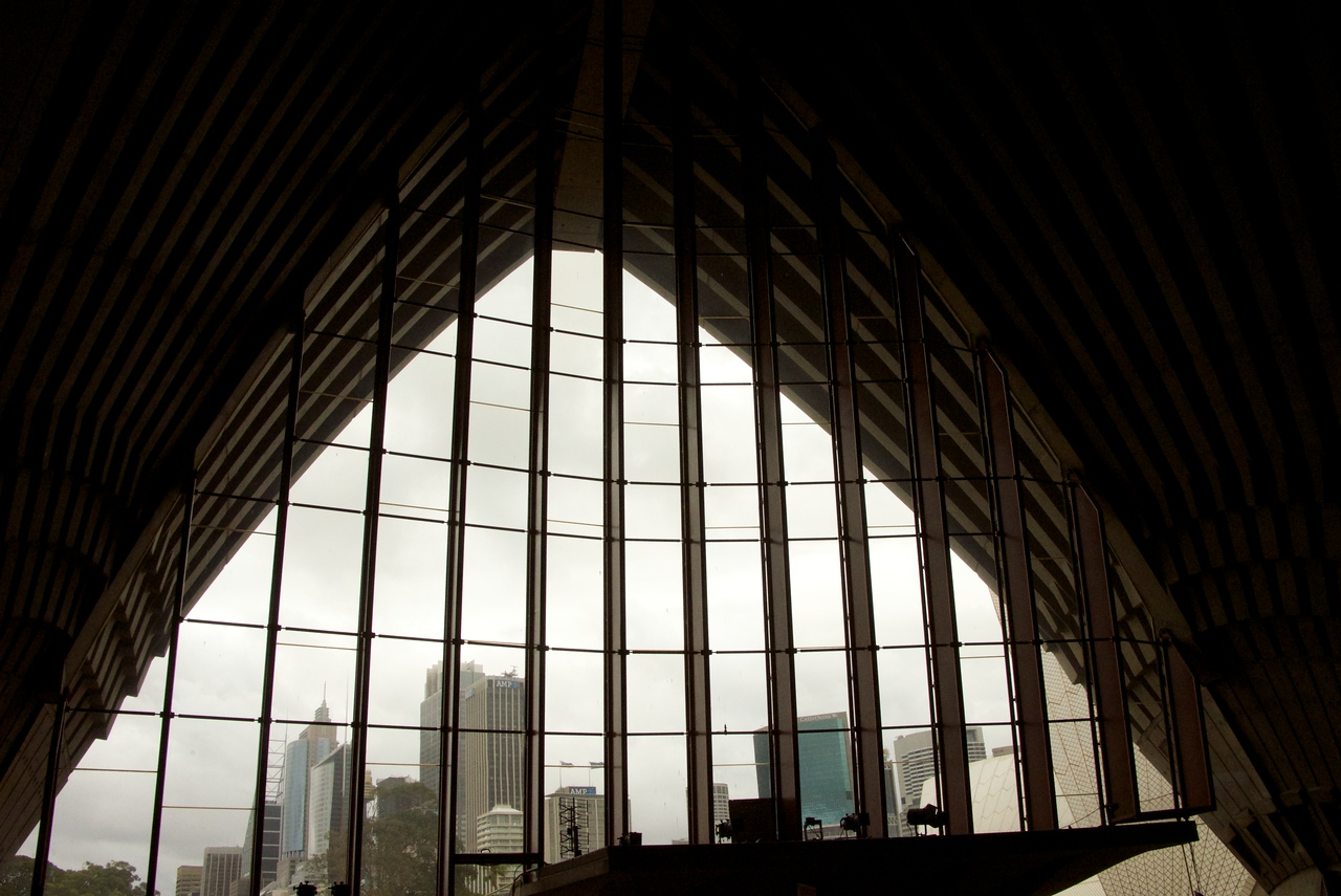View of Sydney from Inside The Opera House