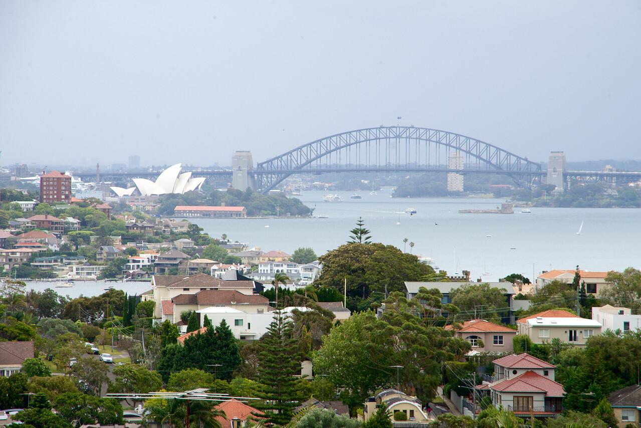 Sydney Harbor with Opera House and Harbor Bridge