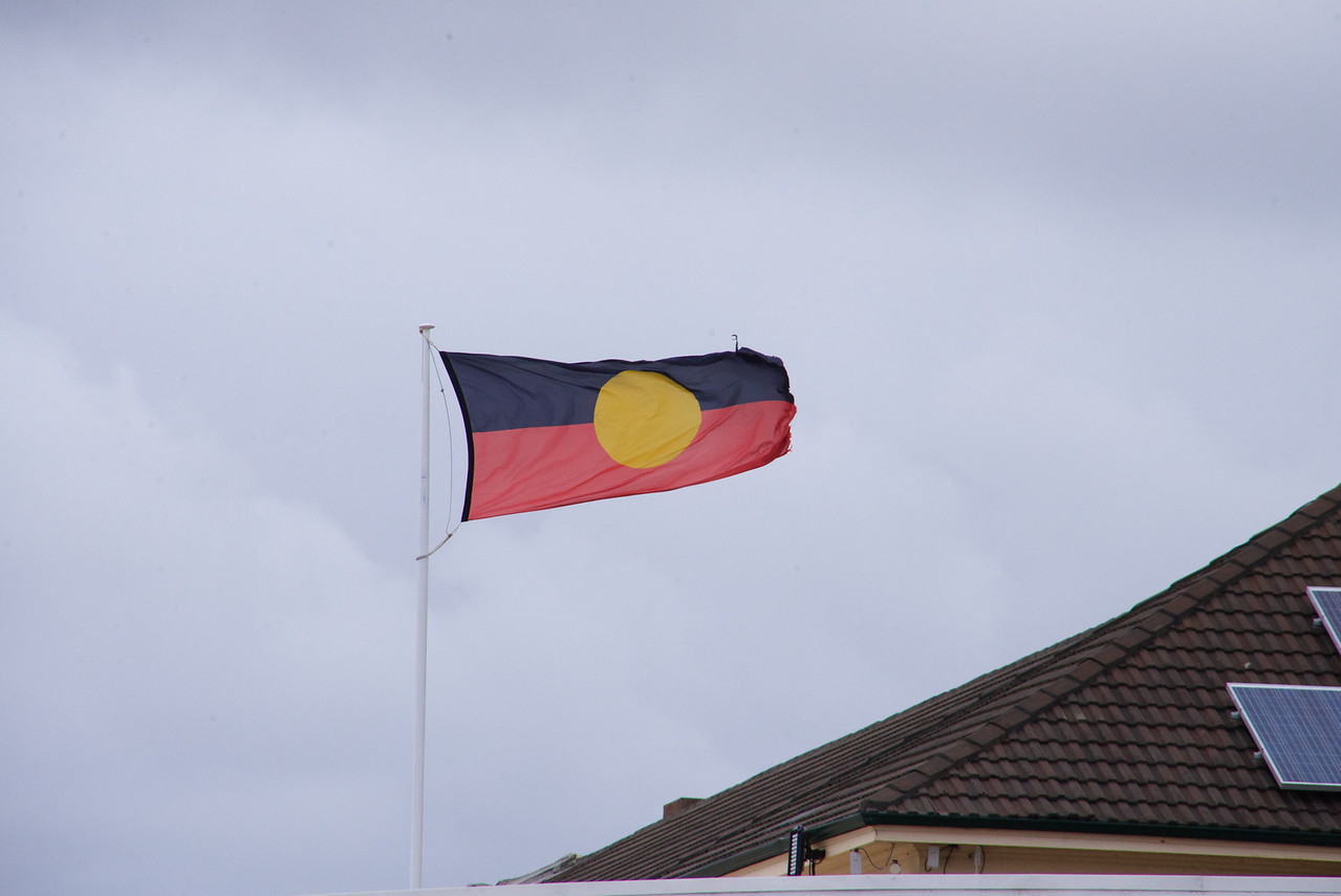 Aborigines' Flag- Black Represents Their Skin Color, Red Represents The Clay Earth and Yellow Represents The Sun