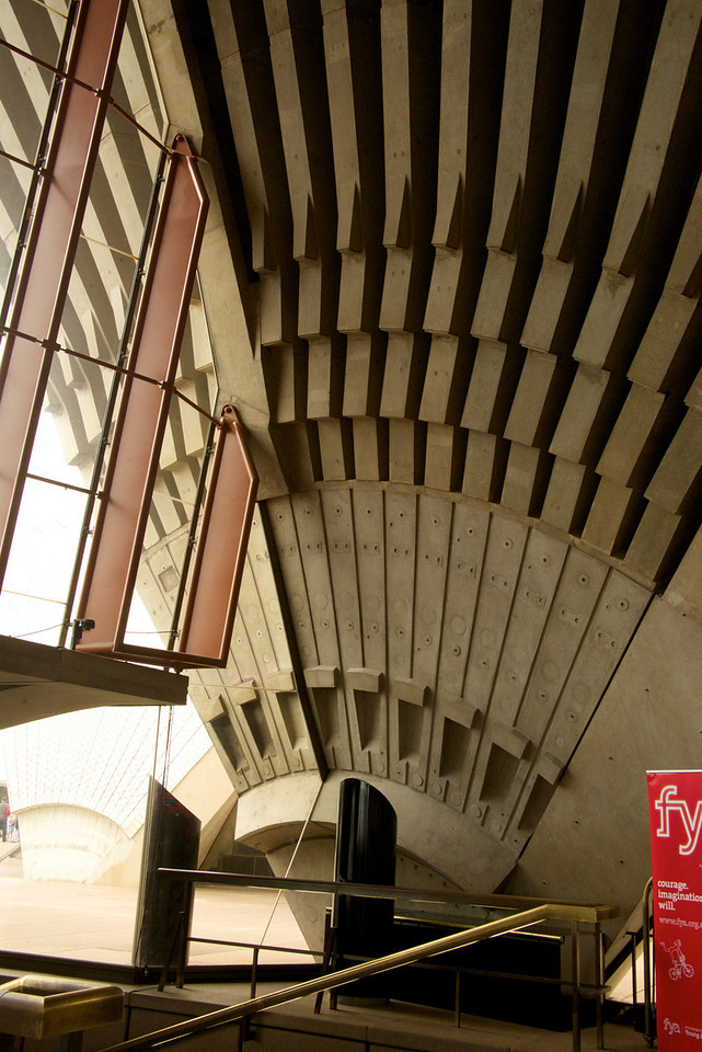 View As One Descends The Stairs From The Upper Levels