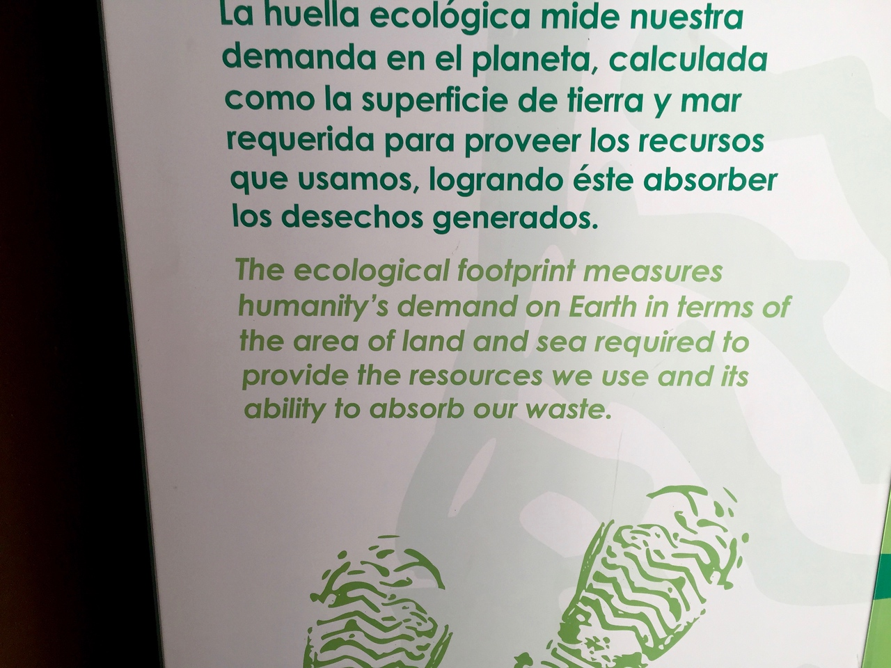 Explanation of ecological footprint.