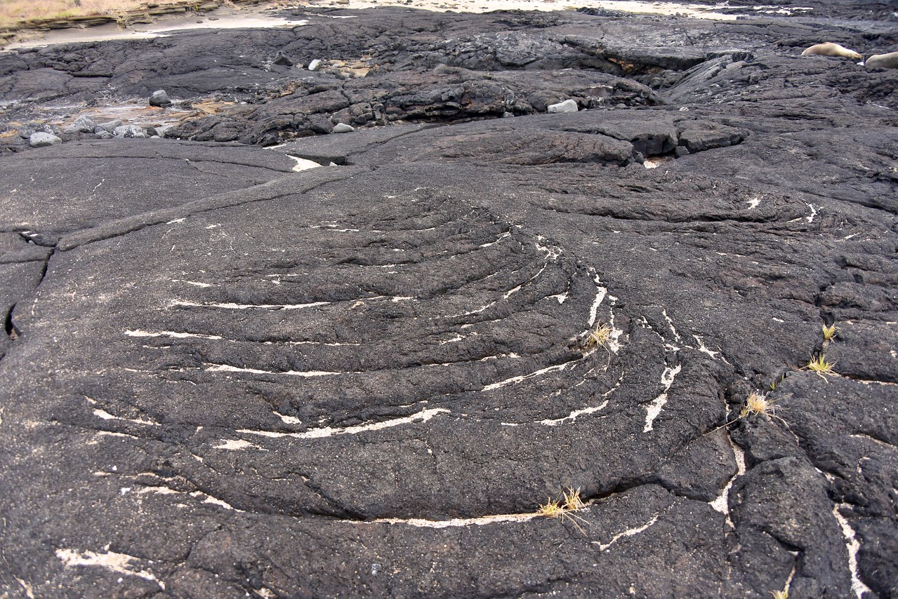 Example of striation of lava rock... can see the pattern where lava flowed and cooled.