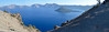Wizard Island from North Junction overlook - panorama, get as big as you can.